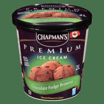 Chapman's Premium Chocolate Fudge Brownie Ice Cream