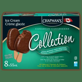 Barre de crème glacée fudge brownie